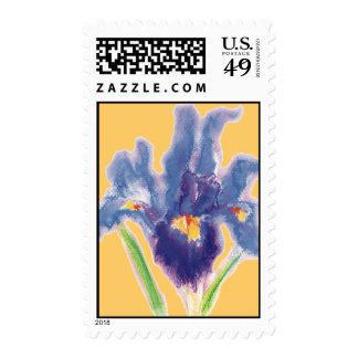 Blue-iris postage stamp