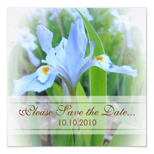 Blue Iris Save-the-date Card