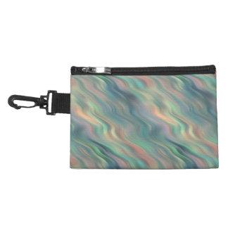 Blue Iris Wavy Texture Accessory Bag