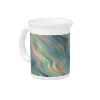 Blue Iris Wavy Texture Beverage Pitcher