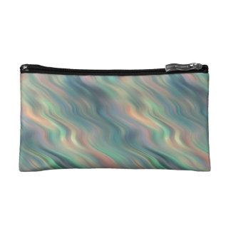 Blue Iris Wavy Texture Cosmetic Bag