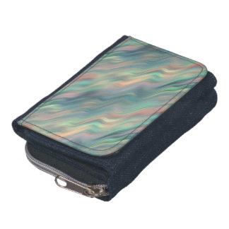 Blue Iris Wavy Texture Wallet