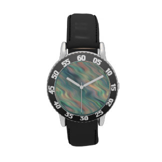 Blue Iris Wavy Texture Watches