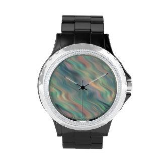 Blue Iris Wavy Texture Wrist Watches