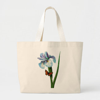 Blue Iris with Butterfly by Redoute Bags
