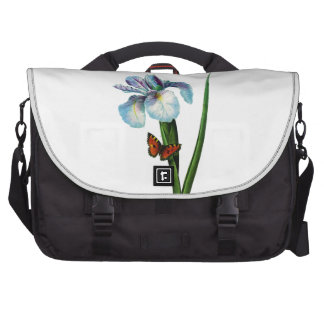 Blue Iris with Butterfly by Redoute Commuter Bag