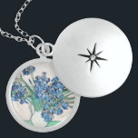 "Blue Irises by Vincent Van Gogh Fine Art Locket Necklace<br><div class=""desc"">Beautiful fine art painting of blue irises by Vincent Van Gogh. Visit our store to find more beautiful Van Gogh paintings.</div>"