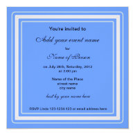 blue irises flowers all party invitation personalized invitation