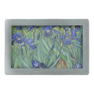 Blue Irises Rectangular Belt Buckle