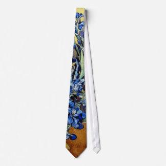 blue irises, Van Gogh Neck Tie