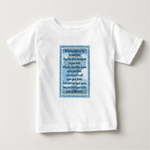 Blue Irish Blessing T Shirts