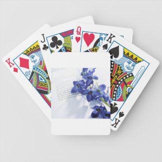 Blue Iris's laided upon a book Bicycle Playing Cards