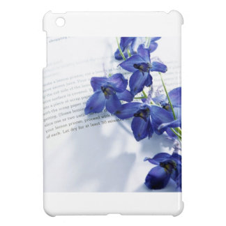 Blue Iris's laided upon a book iPad Mini Case