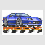 Blue IROC Z Rectangular Sticker