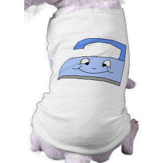 Blue Iron Cartoon. On White. Pet T Shirt