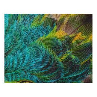 Blue Irridescent Feather Design Panel Wall Art