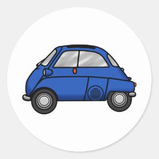 blue isetta classic round sticker