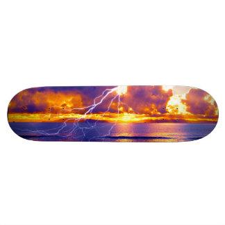 Blue Island Lightning Skateboard Deck