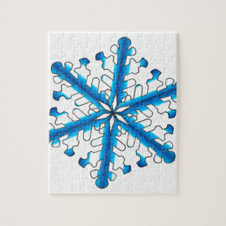 Blue Isolated Snowflake Jigsaw Puzzle