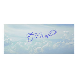 blue it is well stress relieving spa home decor poster