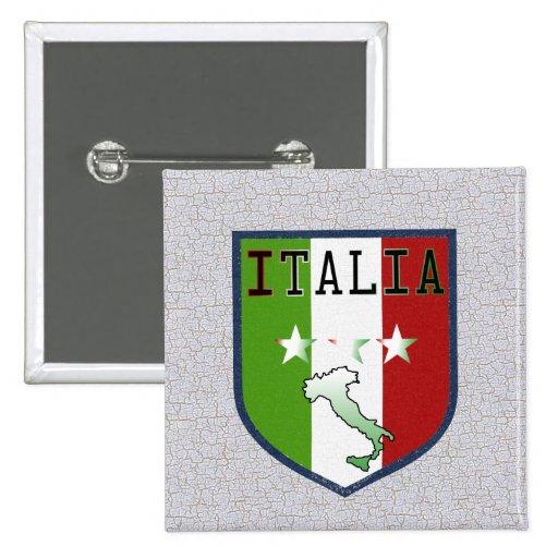 Blue Italia Crest Button