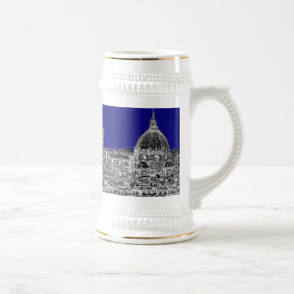 Blue Italian cathedral Beer Stein