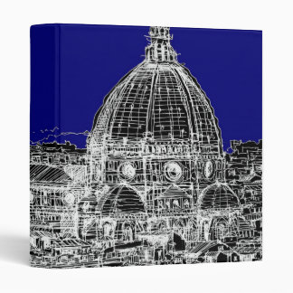 Blue Italian cathedral Binder