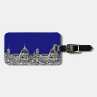 Blue Italian cathedral Tags For Bags