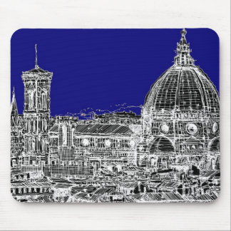 Blue Italian cathedral Mouse Pads