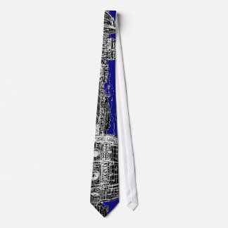 Blue Italian cathedral Tie