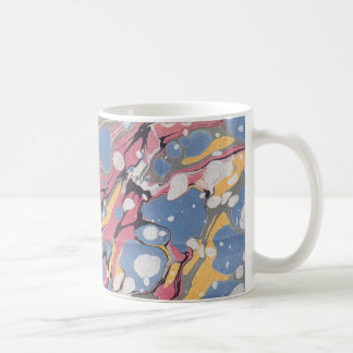 Blue Italian Marble Pattern Coffee Mug