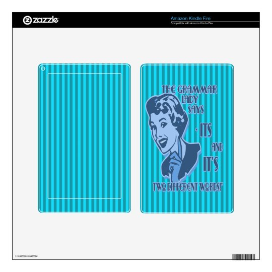Blue Its and It's Kindle Fire Skin