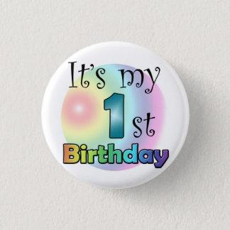 Blue It's my 1st Birthday Pinback Button