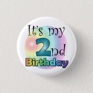 Blue It's my 2nd Birthday Pinback Button