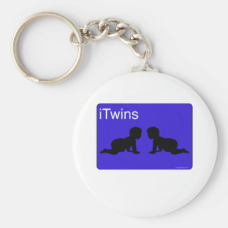 Blue iTwins Keychain