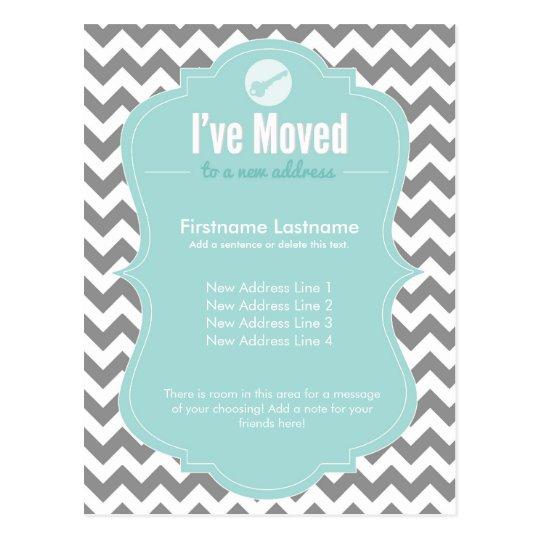 Blue I've Moved Change of Address Postcards