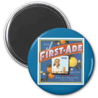 Blue J First-Ade Brand Oranges Magnet
