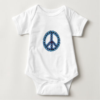 Blue Jagged Peace Apparel Infant Creeper