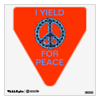 Blue Jagged Peace I Yield Wall Decal