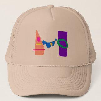 Blue Japan Trucker Hat