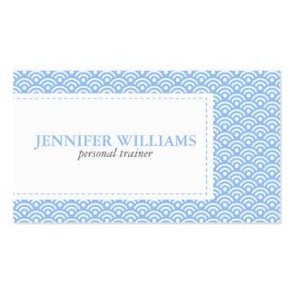 Blue Japanese Seigaiha Pattern Business Card Templates