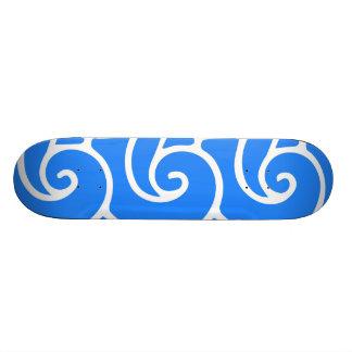 Blue Japanese style waves Skateboard