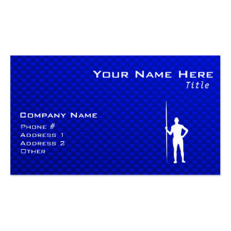 Blue Javelin Throw Double-Sided Standard Business Cards (Pack Of 100)