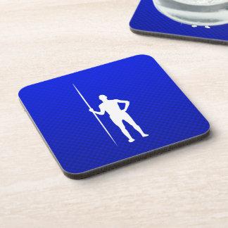 Blue Javelin Throw Beverage Coasters
