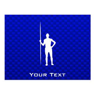 Blue Javelin Throw Postcard
