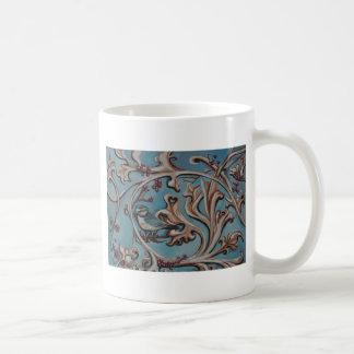 Blue Jay and Scrolls Classic White Coffee Mug