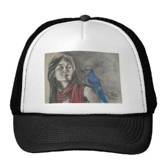 Blue Jay and the Girl Trucker Hat