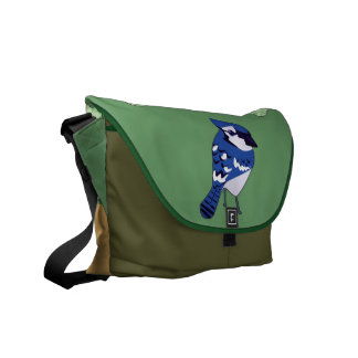 Blue Jay and Trees Messenger Bag