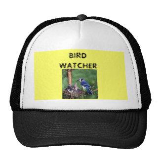 Blue Jay at nest, BIRD WATCHER Trucker Hat