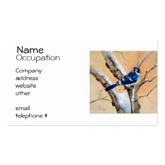 Blue Jay At Sunset Business Card